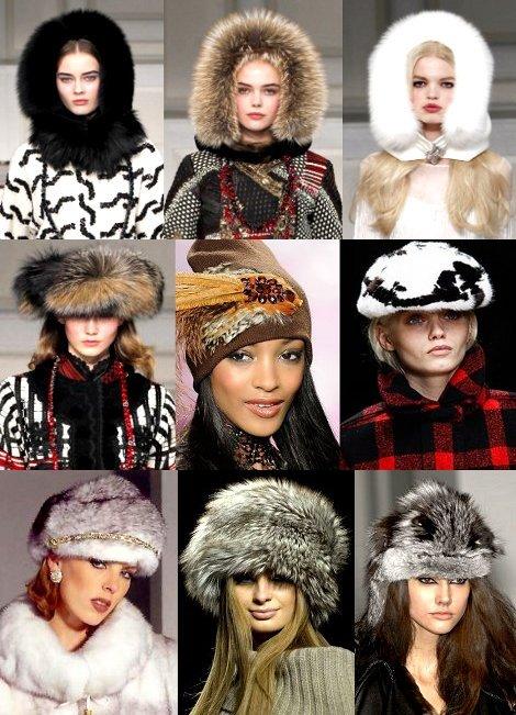 Модные головные уборы зима 2012 вязаные