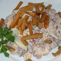 Рецепты салатов с сухариками