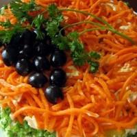 Салат с сердцем индейки и морковью по-корейски