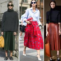 С чем носим плиссированные юбки в 2016 году